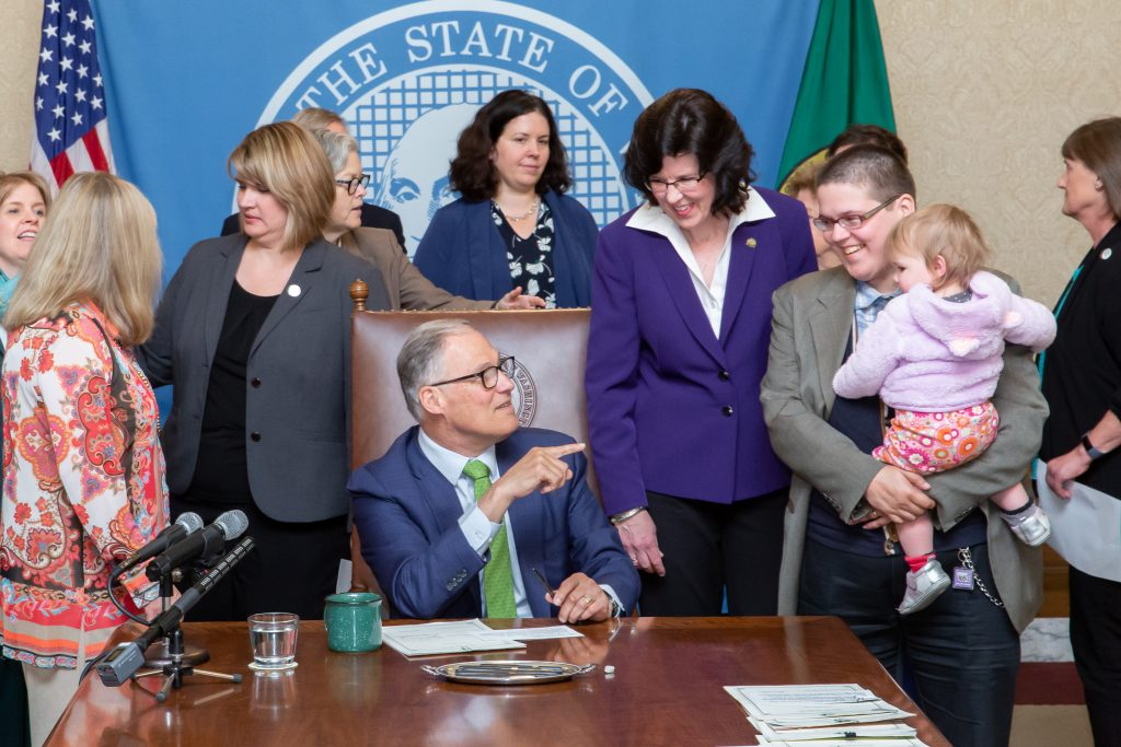 Gov. Inslee signs Engrossed House Bill No. 1175, April 30, 2019. Relating to authorization of health care decisions by an individual or designated person. Primary Sponsor: Christine Kilduff