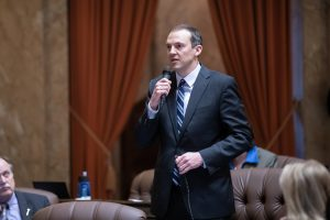 Rep. Riccelli speaking in favor of legislation on the floor of the House