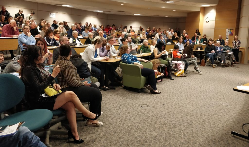 audience at Bellevue College