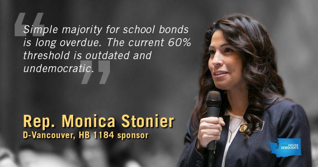 Rep. Stonier supporting simple majority school bonds