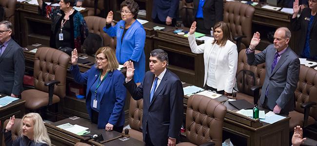 Rep. Javier Valdez swearing in ceremony