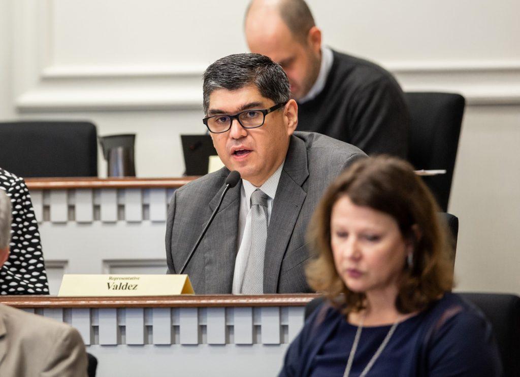 Rep. Valdez in Civil Rights & Judiciary committee meeting
