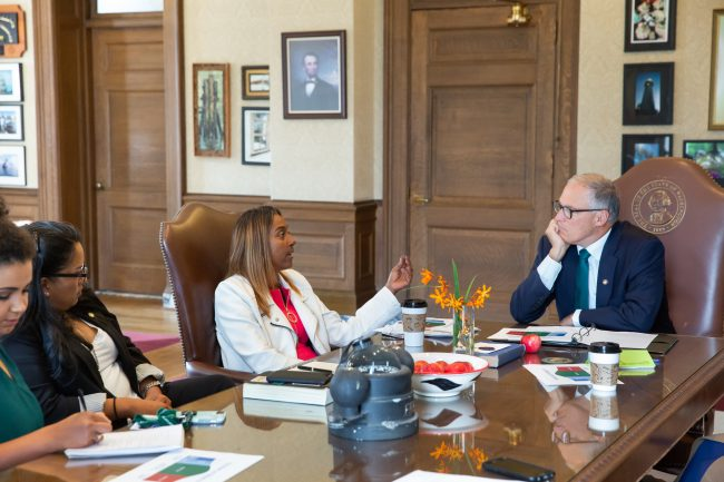 Members of Black Member Caucus meet with Governor Inslee