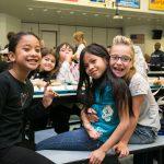 School children in lunchroom