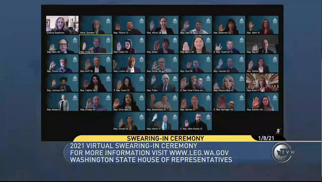 Virtual swearing in ceremony